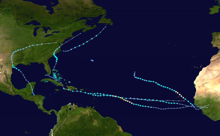 2015 Atlantic hurricane season summary map as of today. (Image: wikipedia.org)