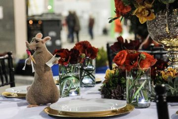 Head to the Philadelphia Flower Show to check out this year's Disney theme. Here, Flowers by David created a 'Ratatouille' inspired design. (Kimberly Paynter/WHYY)
