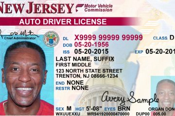New Jersey driver's license (New Jersey Motor Vehicle Commission)