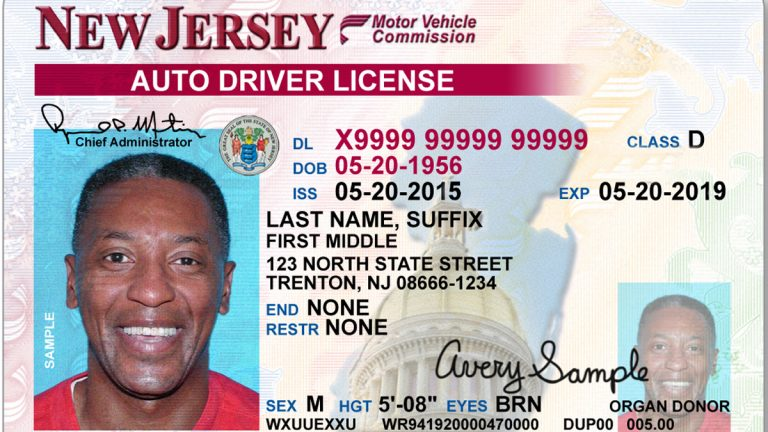 New Jersey lawmakers are considering a measure allowing inclusion  of drug allergies on driver's licenses. (New Jersey Motor Vehicle Commission)