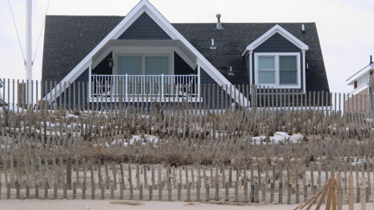 This Jan. 29, 2016 photo shows an oceanfront home in Point Pleasant Beach, N.J. owned by Todd Christie.  (AP Photo/Wayne Parry)