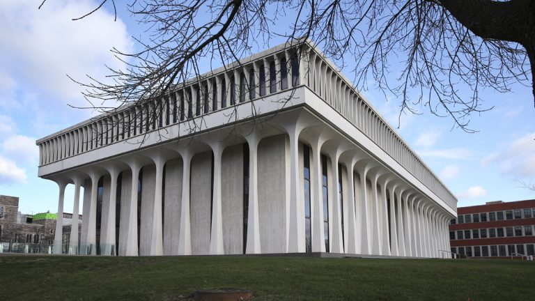 Robertson Hall is home to the Woodrow Wilson School of Public and International Affairs at Princeton University. (AP Photo/Mel Evans