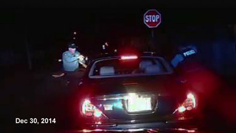 Dashcam image shows the moment before Bridgeton police open fire on passenger Jerame Reid. (Bridgeton police)