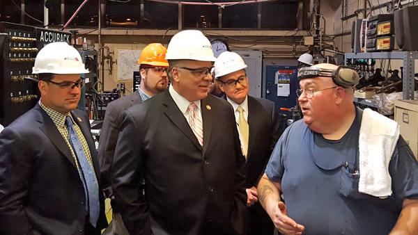 Sen. Paul Sarlo (left) with Senate President Stephen Sweeney