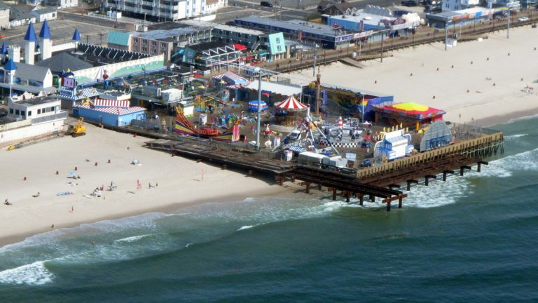 The JetStar roller coaster once sat at the end of a longer Casino Pier. (AP Photo/Wayne Parry)