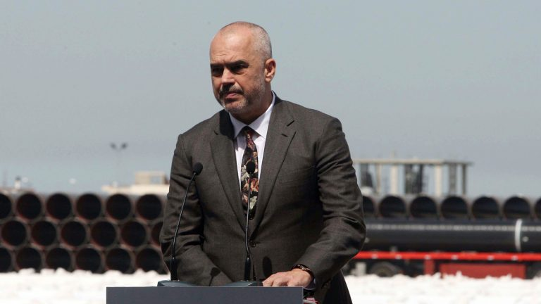 Albanian Prime Minister Edi Rama denies he paid to attend a 2012 Obama campaign event.  (AP Photo/Hektor Pustina