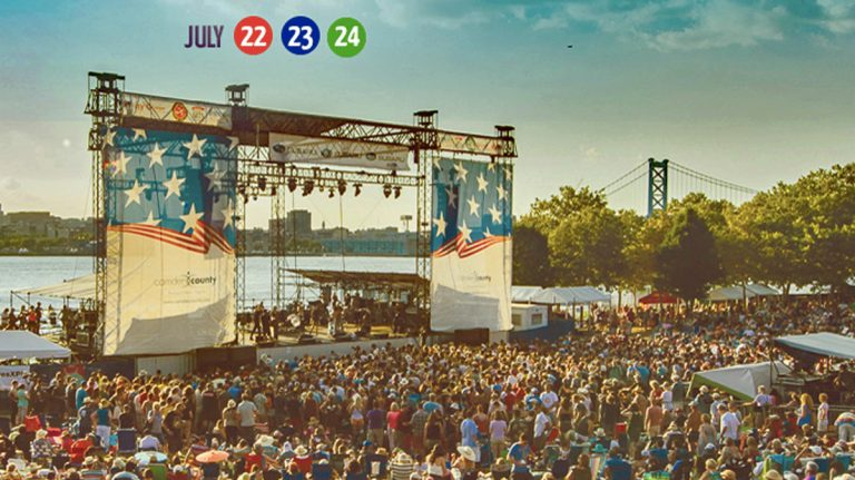 The XPoNential Music Festival is held on Camden's Waterfront. (Photo via EXPoNential website)