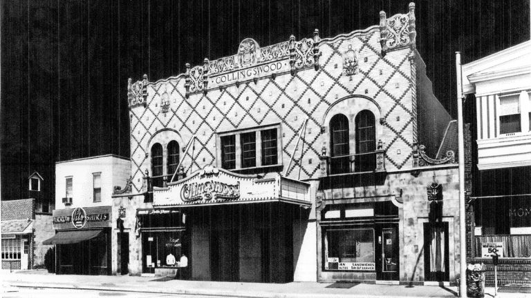 A high contrast stylized image of the Collingswood Theater