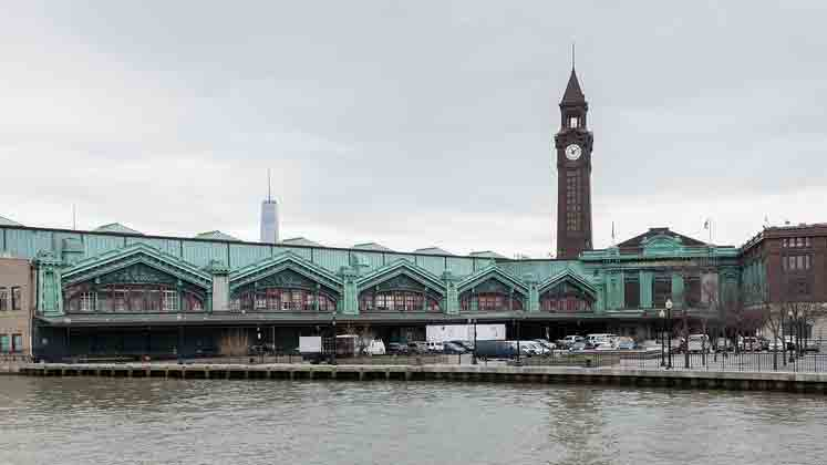 A view of the exterior of Hoboken Train station. (Big Stock photo)