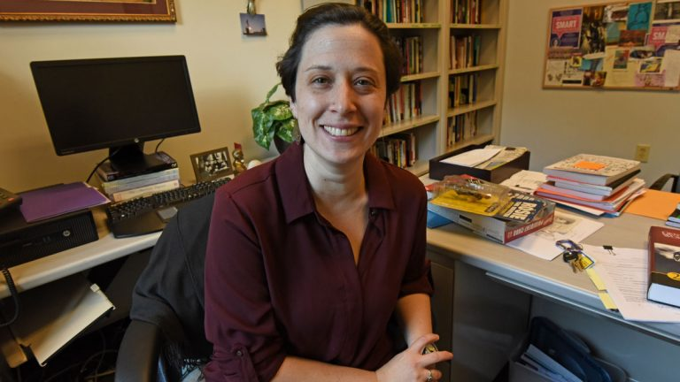 Dr. Shauna Shames is an assistant professor of political science at Rutgers University/Camden. (April Saul/for NewsWorks)