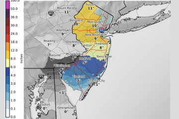 Snow projections from the National Weather Service.
