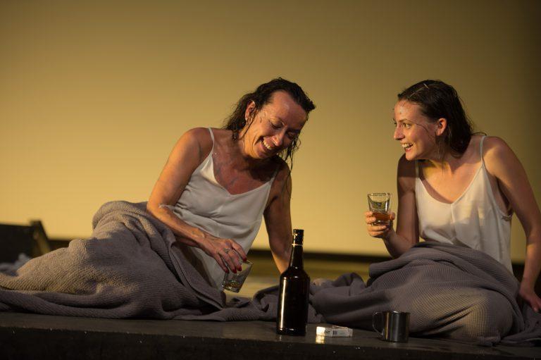 Marieke Heebink (left) and Gaite Jansen in Toneelgroep Amsterdam's 'Persona.' (Photo courtesy of JJ Tiziou)