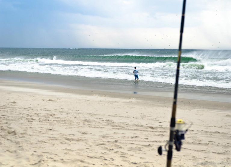 Fishing at Island Beach State Park. (Photo: Jennifer Husar)