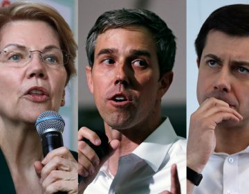 (From left) Democratic presidential candidate Sen. Elizabeth Warren, D-Mass.; Former Texas congressman Beto O'Rourke; and Sound Bend, Indiana Mayor Pete Buttigieg (Elise Amendola, Charles Krupa, and Charles Krupa/Associated Press)