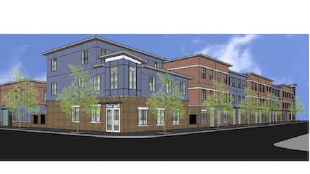 Rendering of Grace Townhomes in the Port Richmond neighborhood in Philadelphia.(Nora Lichtash/WCRP)