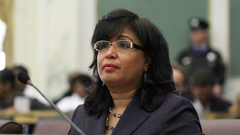 Philadelphia City Councilwoman Maria Quinones Sanchez. (Emma Lee/WHYY)