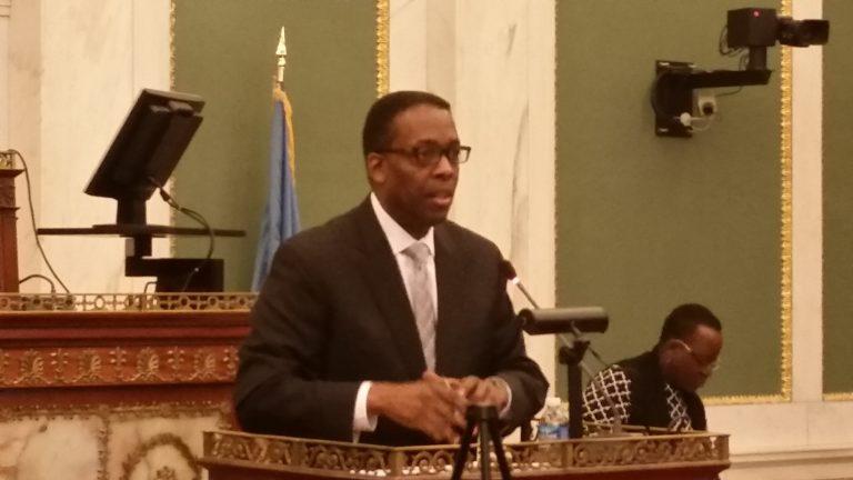 Philadelphia Council President, Darrell Clarke (Tom MacDonald/WHYY)