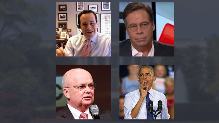 Clockwise from top right: Politco writer Jack Shafer (image via <a href='https://www.youtube.com/watch?v=o-ObgEfOcSU'>youtube</a>); President Barack Obama (AP Photo/Mark Wallheiser); former NSA and CIA director Michael Hayden (Paul Morigi/Invision for AMC/AP Images); conservative analyst David Frum (The original uploader was Cardsplayer4life at English Wikipedia - Transferred from en.wikipedia to Commons.)
