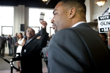 Doug Oliver discussed the applicability of Jay Z lyrics to what he's learned about Philly politics. (Bas Slabbers/for NewsWorks)