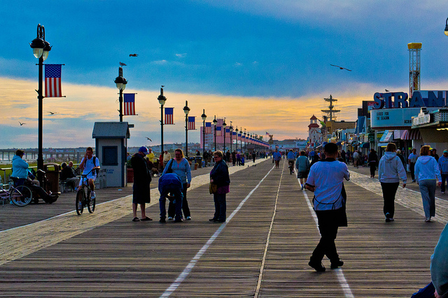 The Ocean City boardwalk. (Photo: kjarrett via Flickr)