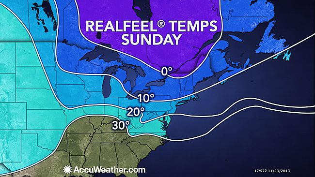 Yes, it's cold. [Image: AccuWeather.com]