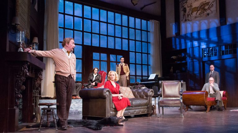 The ensemble of Walnut Street Theatre's production of 'And Then There Were None.' (Photo courtesy of Mark Garvin)