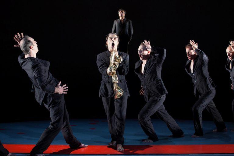 The Greek chorus in Wilma Theater Company's production of 'Antigone.' (Photo courtesy of Alexander Iziliaev)