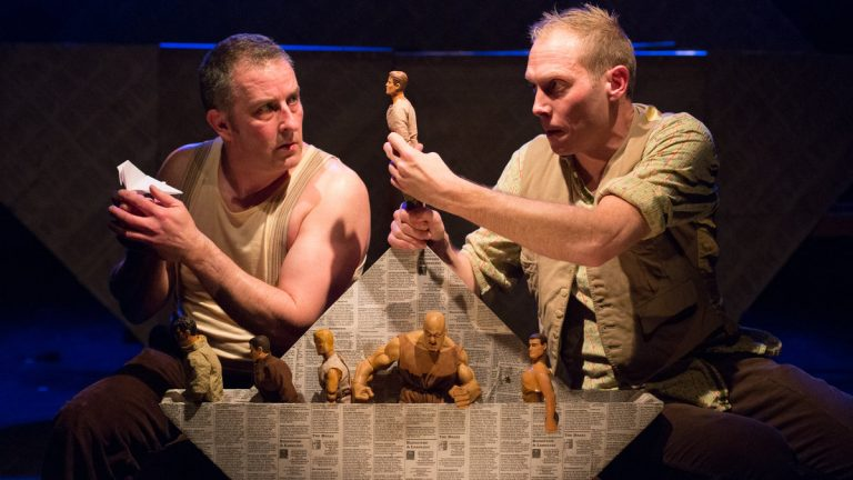 Tim Settle (left) and Simon Donaldson at People's Light & Theatre Company in 'Jason and the Argonauts.' (Photo courtesy of Mark Garvin)