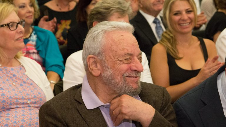Stephen Sondheim watches a performance of his work at a concert Monday night, during which Arden Theatre presented him with its first Master Storyteller Award. (Photo courtesy of Mark Garvin)