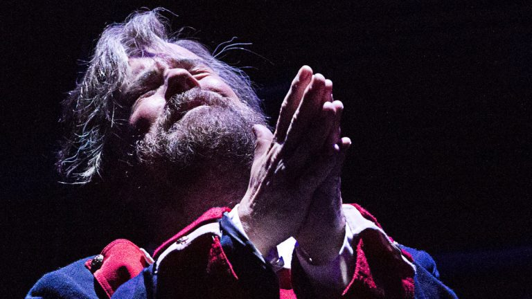 Mike Eldred as Jean Valjean in the Pennsylvania Shakespeare Festival production of 'Les Misérables.' (Photo courtesy of Lee A. Butz)