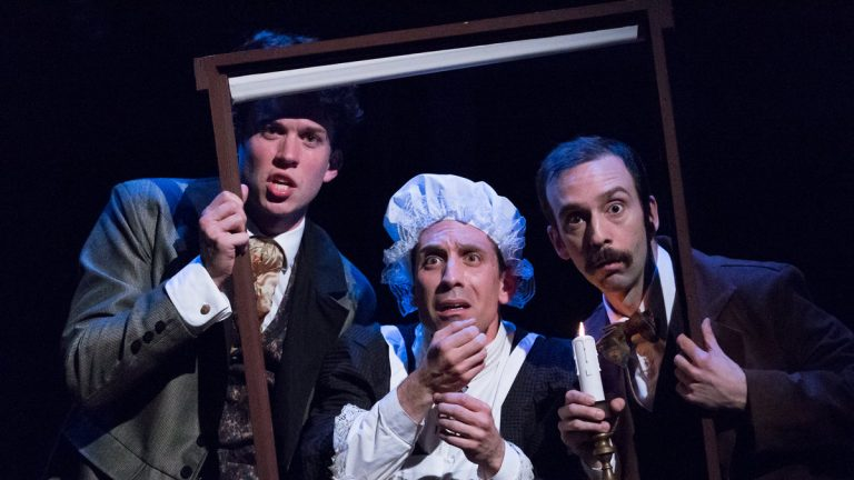 In Lantern Theater Company's production of 'The Hound of the Baskervilles' (from left): Daniel Fredrick, Damon Bonetti, and Dave Johnson. (Photo courtesy of Mark Garvin)