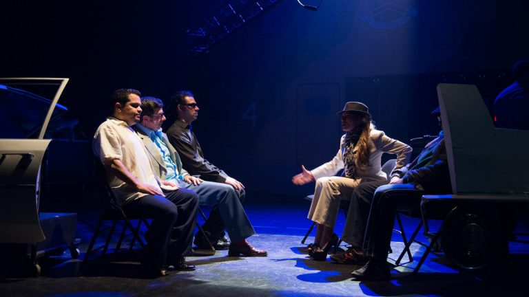 A part of the ensemble of 'Alias Ellis Mackenzie,' playing at the Prince Theater as part of the Fringe Festival. (Photo courtesy of Johanna Austin)