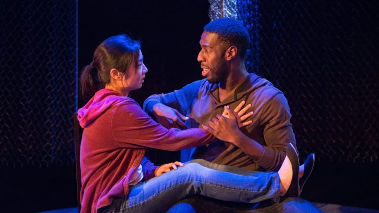 Bi Jean Ngo and Ashton Carter in Azuka Theatre's production of 'Lights Rise on Grace.' (Photo courtesy of AustinArt.org)