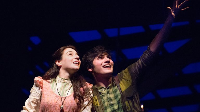 Michaela Shuchman and Brandon O'Rourke in Walnut Street Theatre's production of 'Peter and the Starcatcher.' (Photo courtesy of Mark Garvin)