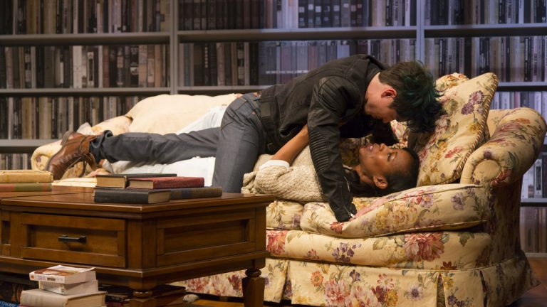 Kyle Coffman and JoAnna Rhinehart in Philadelphia Theatre Company's production of 'Sex with Strangers.' (Photo courtesy of T. Charles Erickson)