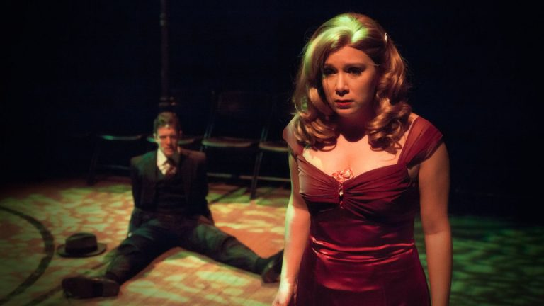 Jake Blouch and Cara Noel Antosca in 11th Hour Theatre Company's production of 'See What I Wanna See.' (Photo courtesy of Daniel Kontz)