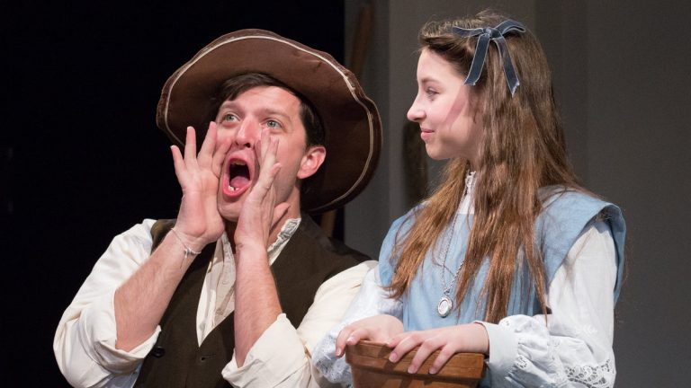 Steve Pacek and Bailey Ryon in Arden Theatre Company's production of 'The Secret Garden.' (Photo courtesy of Mark Garvin)