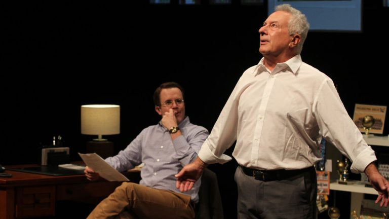 Matt Pfeiffer (left) and Tom Teti in Theatre Exile's production 'Tommy and Me.' (Photo courtesy of  Paola Nogueras)