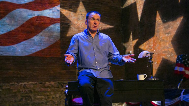 Colin Quinn in his one-man show, 'Unconstitutional,' which he's performing at Philadelphia Theatre Company.