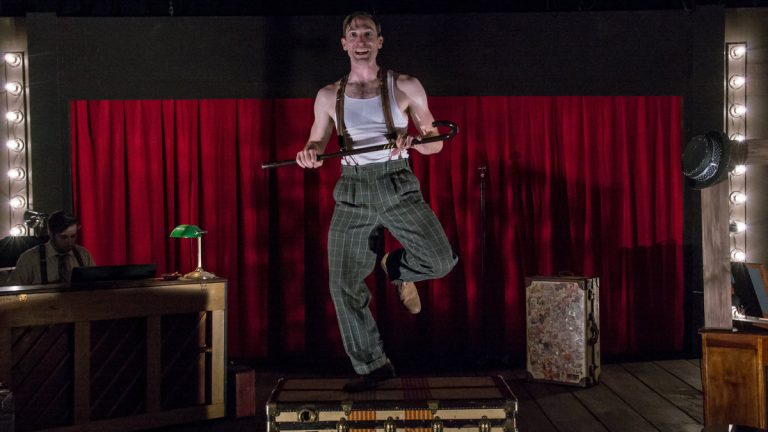 Ben Dibble in Flashpoint Theatre Company's production of 'Herringbone' (Photo courtesy of Ian Guzzone)