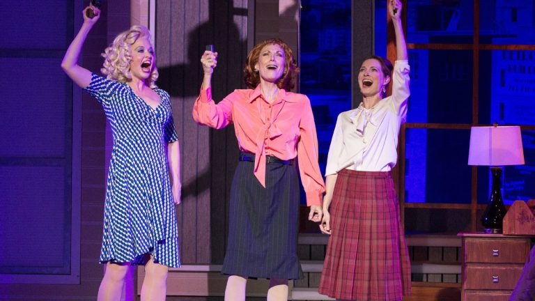 The three leads in Walnut Street Theatre's main stage production of '9 to 5: The Musical' -- from left, Amy Bodnar, Dee Hoty and Amanda Rose. (Photo courtesy of Mark Garvin)