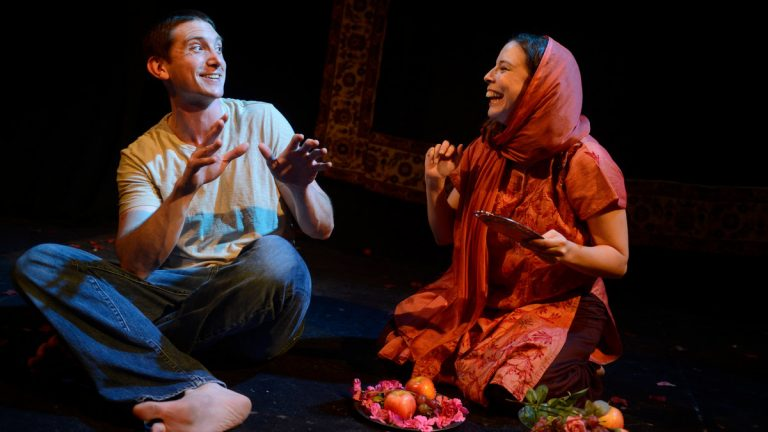 Bob Stineman and Leila Ghaznavi in 'Broken Wing,' from Leila and Pantea Productions. (Photo courtesy of JJ Tiziou.)