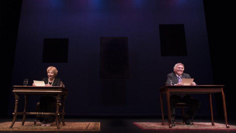 Michael Learned and Daniel Davis in Delaweare Theatre Company's production of 'Love Letters.' (Photo courtesy of Joe del Tufo)
