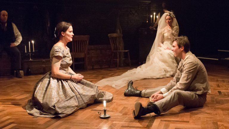 From left, Kate Czajkowski as Estella, Sally Mercer as Miss Havisham, and Josh Carpenter as Pip in Arden Theatre Company's production of 'Great Expectations.' (Photo courtesy of Mark Garvin)