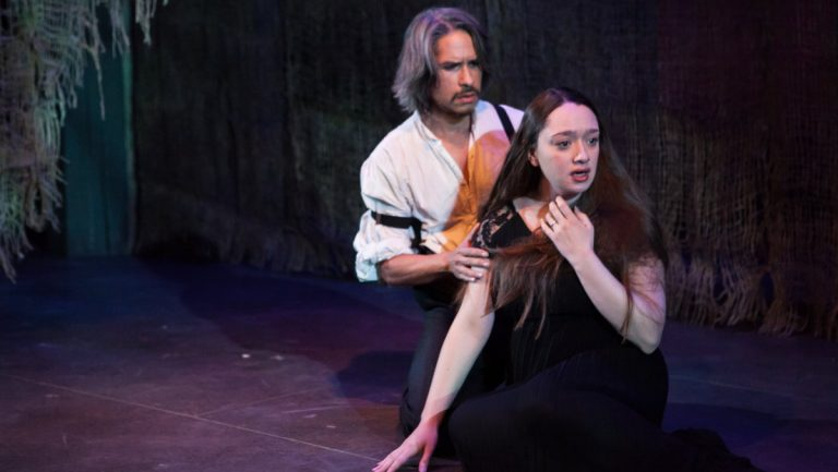 J. Hernandez and Victoria Rose Bonito in Philadelphia Artists Collective's production of 'Blood Wedding,' in cooperation with Drexel University. (Photo courtesy of Plate 3 Photography)