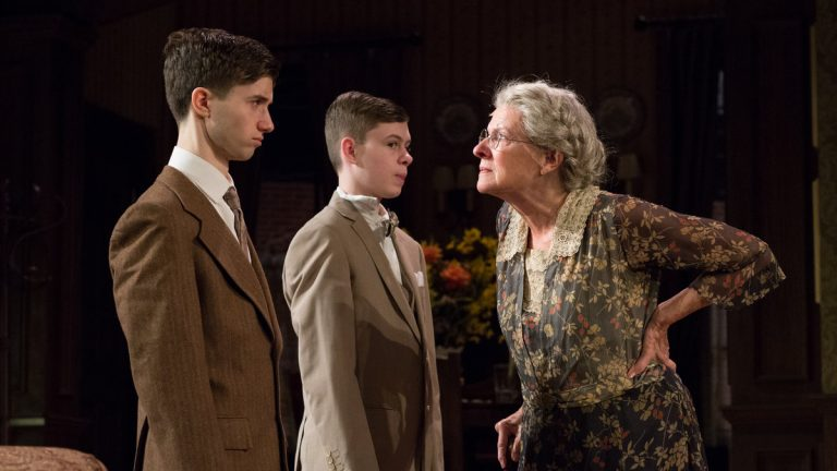 David Nate Goldman, Kyle Klein II and Joy Franz in Bristol Riverside Theatre's production of 'Lost in Yonkers.'