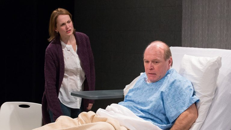 Julianna Zinkel and Craig Spidle  in Arden Theatre Company's production of Michael Hollinger's new play 'Under the Skin' -- one of a number of world premieres here during this second half of the theater season. (Photo courtesy of Mark Garvin)