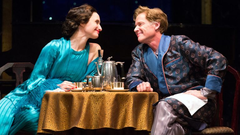 Kathleen Wallace and Greg Wood in Walnut Street Theatre's production of 'Private Lives.' (Photo courtesy of Mark Garvin)