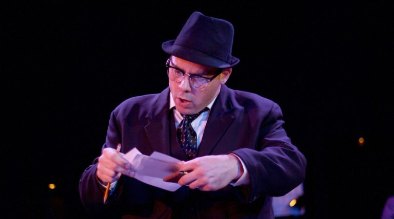 Jeffrey Coon as the catcher in Eagle Theatre's production of 'Catch Me If You Can.' (Photo courtesy of Chris Miller.)