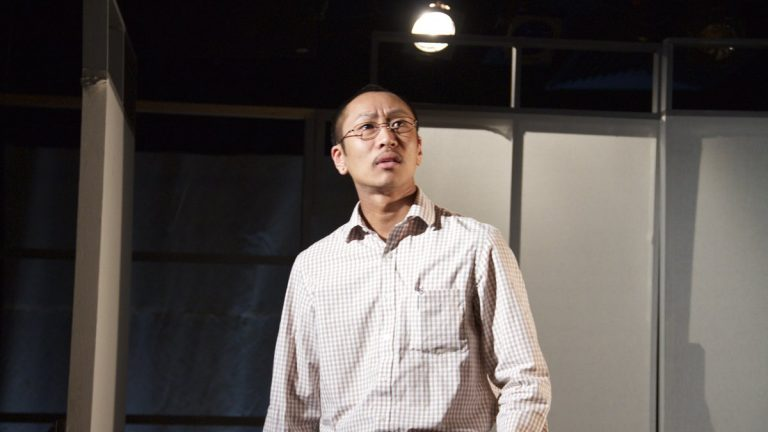 Makoto Hirano in the  Plays & Players production of 'Hold These Truths.' (Photo courtesy of  Ted Tarnovski)